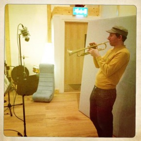 Matthew Halsall recording tracks for his new album @ 80 Hertz Studios in Manchester…
