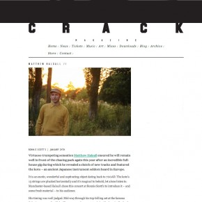 24/01/2013 - Nice review by Oliver Pickup on Matthew Halsall's performance @ Ronnie Scott's Jazz Club.