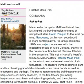 Matthew Halsall: Fletcher Moss Park - Guardian Review