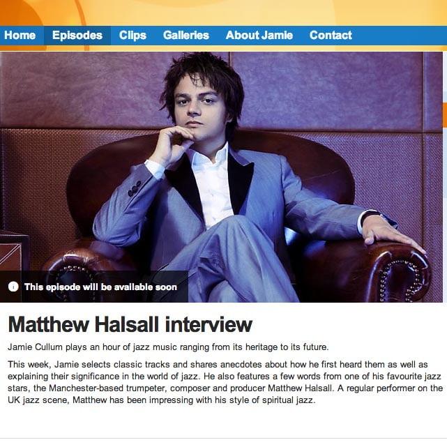 Matthew Halsall Jamie Cullum Interview BBC Radio 2