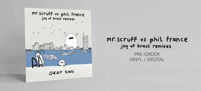 "Pre-order Mr. Scruff Vs Phil France: Joy of Brass Remixes 12"" / DL"